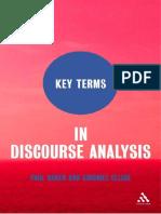key terms in da
