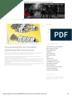 Processamento Em Paralelo Utilizando RFC Assíncrona