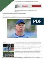 Mano Faz Mistério Sobre Cruzeiro Que Enfrenta o Grêmio e Diz Que Desgaste Pode Gerar Mudanças - Superesportes