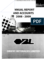 Orient Beverages Ltd 2009