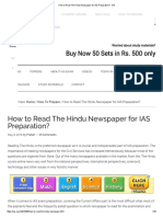 How to Read the Hindu Newspaper for IAS Preparation_ - IAS