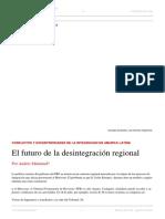 Malamud - El Futuro de La Desintegración Regional