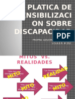 Platica de Sensibilizacion Sobre Discapacidad