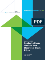 Guidelines Ductile Iron Pipe Install Guide