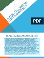 La Luz y El Espectro Electromagnético»