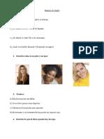 Examen Ingles Tema 1 - 5 Primara