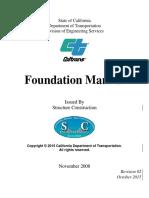 Caltran Foundation Design Guide