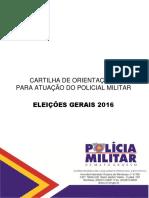 Cartilha de Orientações PM - Eleições 2016 - Versão Final
