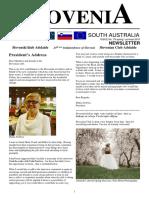 Slovenia SA Newsletter spring - pomlad 2016 No. 79