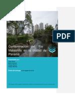 La Contaminacion Del Rio Matasnillo en La Ciudad de Panama