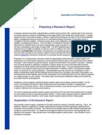 Preparing a Research Report