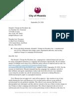 Cease & Desist to Trump Campaign From Phoenix City Attorney 092916