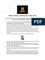 Military History Anniversaries 1001 Thru 101516