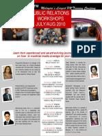 Public Relations Workshops JulyAug 2010