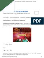 What is Synchronous Impedance Method - measurement, calculation & assumptions - Circuit Globe.pdf