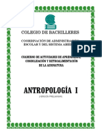 Cuaderno de Actividades Antropología 1