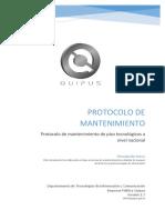 01 - Protocolo de Mantenimiento