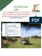 Torneo de Golf Social