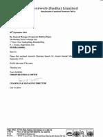 Chairman Speech [Company Update]