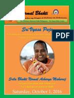 Sri Vyasa Puja October 2016