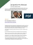 Ahmadinejad Questions Holocaust