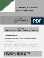 Influența Engleză Asupra Culturii Românești