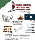 Materias Primas y Utensilios. Gestión de Residuos - Curso Repostería Vol. 4 de 5 - CNT Cartagena