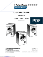 Ficher and Paykel Dryer Manual Ad55