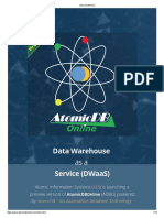 Atomic Db Online Data Warehouse