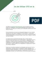 6 Beneficios de Utilizar GTD en La Empresa