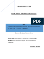 Memoire de Fin d'Etudes :activites touristiques et developpement territorial