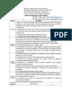Cronograma - Pryectos de Investigacion - 2015-2016