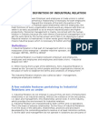 Industrial Relations Overview