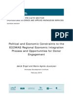 Political and Economic Constraints to the ECOWAS
