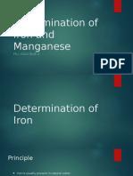 Determination of Iron and Manganese