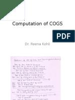 Computation of COGS