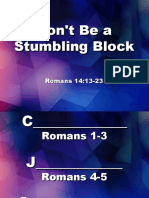 Don't Be a Stumbling Block