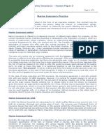 Marine Insurance Course Paper 2