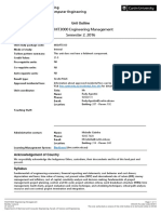 Unit Outline MGMT3000 Engineering Management Semester 2 2016 Bentley Campus INT(Published)
