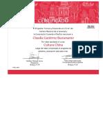 Certificado Chino Mandarin Claudia