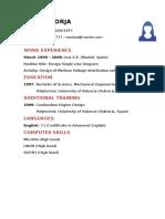 Ejemplo Curriculum en Ingles Ingeniero