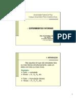 EF - Experimento fatorial