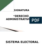 Derecho Administrativo II - Sistema Electoral