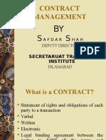 Contract Mangement