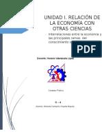 INTERRELACIONES ENTRE LA ECONOMÍA Y LAS PRINCIPALES RAMAS  DEL CONOCIMIENTO SOCIAL - copia.docx
