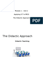 1a. Module 1 - Unit 2 - Didactic Approach (2)