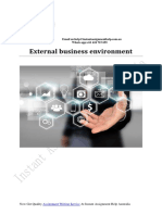 Sample on External Business Environment By experts Writers