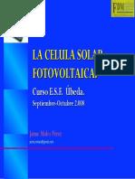 La Celula Solar. Paneles f.V.