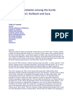Ethnic Differentiation Among the Kurds Kurmanci Kizilbash and Zaza Paul White