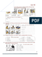 Past continuous grammar worksheet